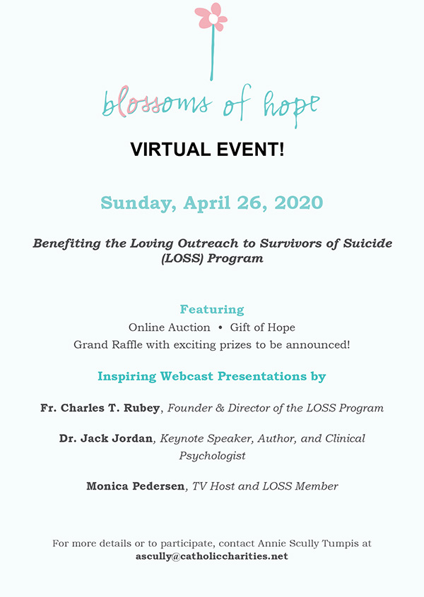 Blossoms of Hope Virtual Event Details